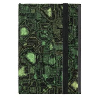 Computer circuit background iPad mini cases