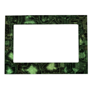 Computer circuit background magnetic photo frame