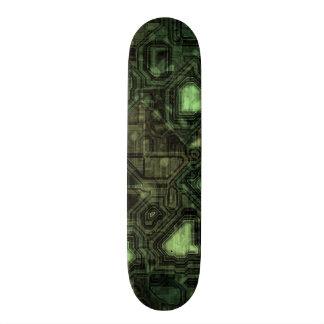 Computer circuit background skateboard