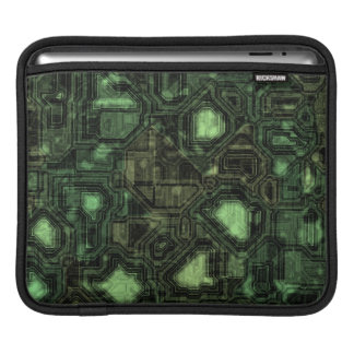 Computer circuit background sleeve for iPads