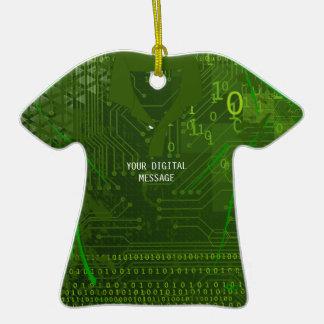Computer Circuit Boad T-Shirt Ornament