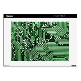 "Computer circuit board 15"" laptop skin"