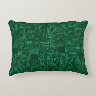 Computer circuit board accent pillow