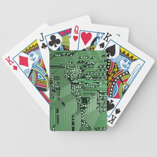 Computer circuit board bicycle playing cards