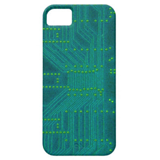 Computer Circuit Board - blue and green iPhone 5/5S Cases