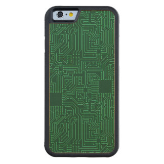 Computer circuit board carved maple iPhone 6 bumper case