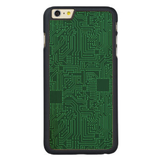 Computer circuit board carved maple iPhone 6 plus slim case