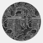 Computer Circuit Board Classic Round Sticker