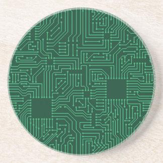 Computer circuit board drink coaster