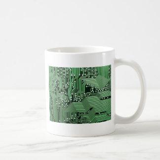 Computer circuit board coffee mug