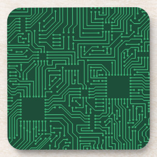 Computer circuit board beverage coasters