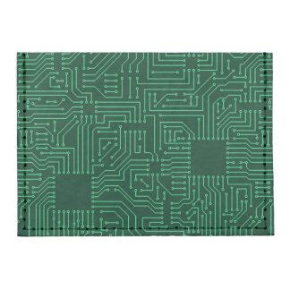 Computer circuit board tyvek® card case wallet