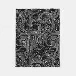 Computer Circuit Board Fleece Blanket