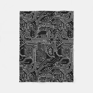Computer Circuit Board Fleece Blanket