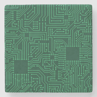 Computer circuit board stone beverage coaster