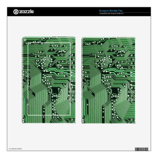 Computer circuit board kindle fire decal