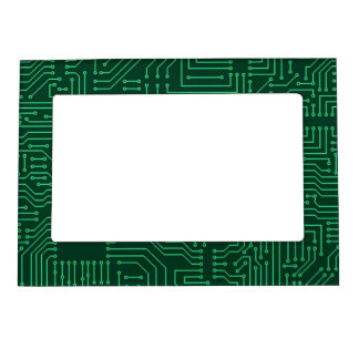 Computer circuit board magnetic photo frame