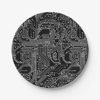 Computer Circuit Board Paper Plate