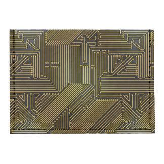 Computer circuit board pattern tyvek® card case wallet