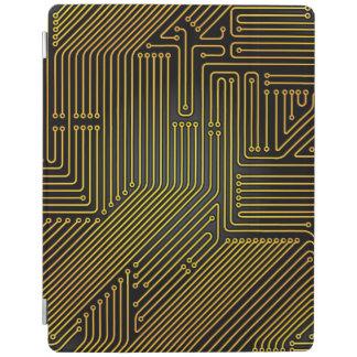 Computer circuit board pattern iPad cover