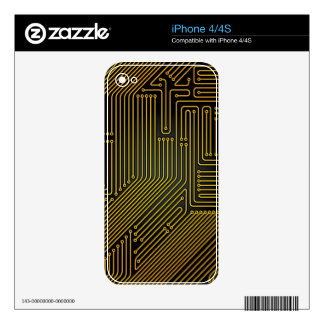 Computer circuit board pattern iPhone 4 decals