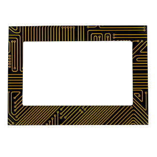 Computer circuit board pattern magnetic frame