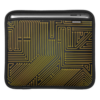 Computer circuit board pattern sleeve for iPads