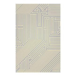 Computer circuit board pattern stationery