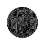 Computer Circuit Board Round Wall Clock