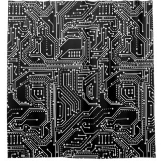 Computer Circuit Board Shower Curtain