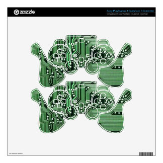 Computer circuit board skins for PS3 controllers