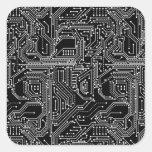 Computer Circuit Board Square Sticker