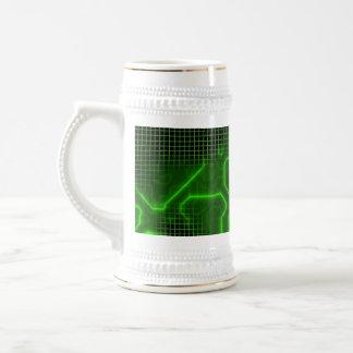 Computer Circuit Board Textured Beer Stein
