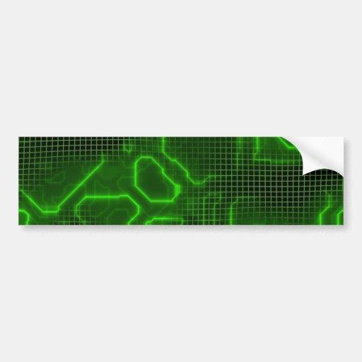 Computer Circuit Board Textured Car Bumper Sticker