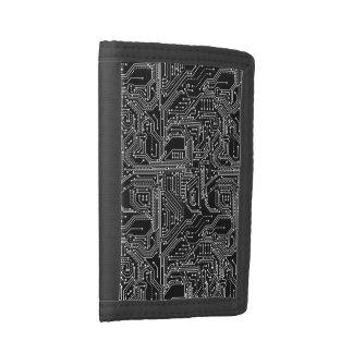 Computer Circuit Board TriFold Nylon Wallet