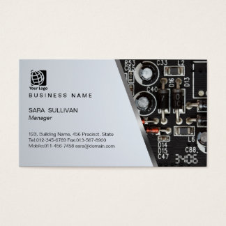 Computer Circuits Computer Service Business Card
