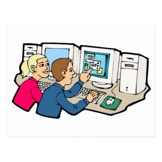 Computer Class Lessons Postcard