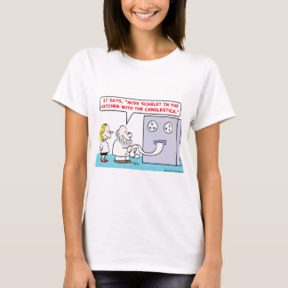 computer clue miss scarlett kitchen candlestick T-Shirt