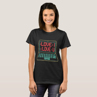 Computer Code I Love You for Techies T-Shirt