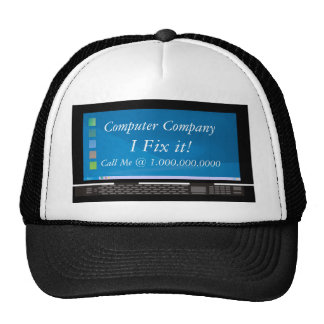 Computer Company Advertisment Mesh Hats
