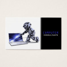 Computer Consultants Business Card at Zazzle