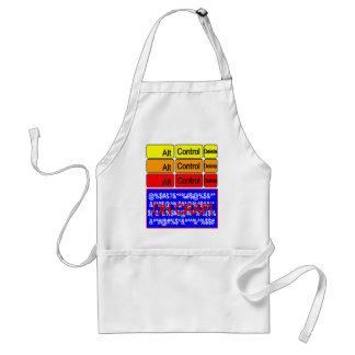 computer crash adult apron