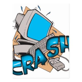 Computer Crash Postcard