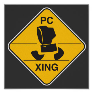 computer crossing (xing) sign