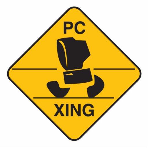 computer crossing (xing) sign photo sculpture ornament