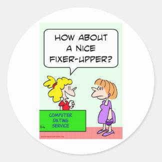 computer dating fixer upper stickers