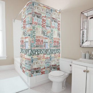 Computer Dictionary in Color Shower Curtain