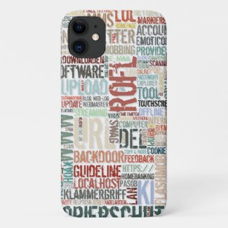 Computer Dictionary in Colors iPhone 11 Case