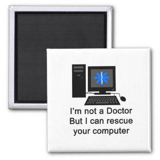 Computer Doctor 2 Inch Square Magnet