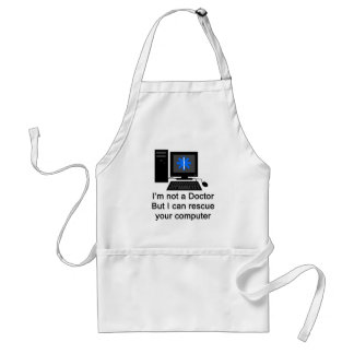 Computer Doctor Adult Apron